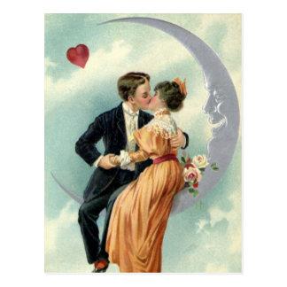 L'amour vintage, Romance, romantique, font gagner Carte Postale