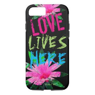 L'amour vit - l'iPhone 7, cas dur d'Apple de Coque iPhone 7