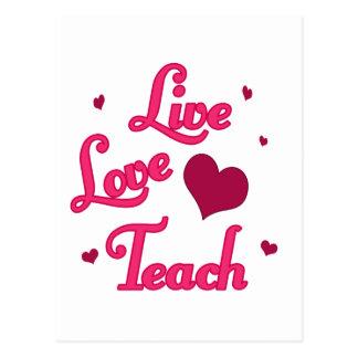 L'amour vivant enseignent carte postale