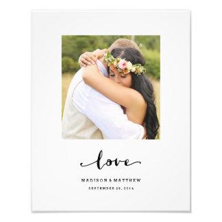 L'amour vrai | a personnalisé la copie de mariage impression photographique