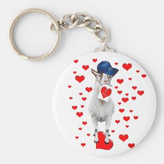 L'amoureux des animaux mignon soit cadeau de porte-clé rond