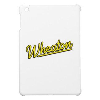 Lampe au néon de Wheaton en jaune Coque Pour iPad Mini