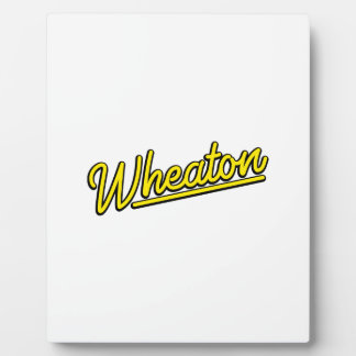 Lampe au néon de Wheaton en jaune Photos Sur Plaques