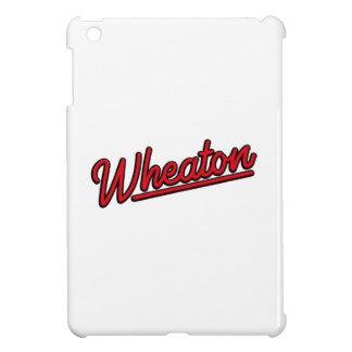 Lampe au néon de Wheaton en rouge Coque Pour iPad Mini