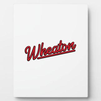 Lampe au néon de Wheaton en rouge Photo Sur Plaque
