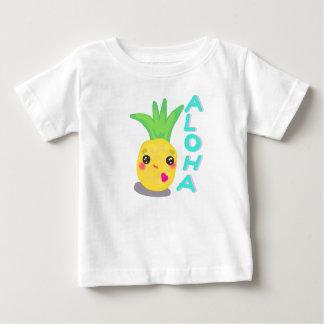L'ananas mignon indique Aloha T-shirt Pour Bébé