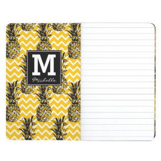 L'ananas zigzague monogramme de | carnet de poche