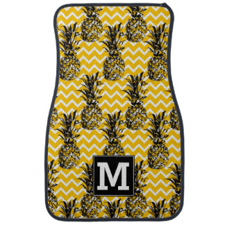 L'ananas zigzague monogramme de | tapis de voiture