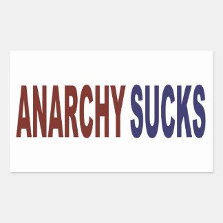 L'anarchie suce sticker rectangulaire