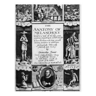 L'anatomie de la mélancolie carte postale