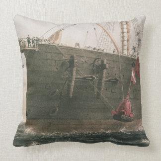 Lançant la balise, le 8 août 1865, repérage coussins carrés