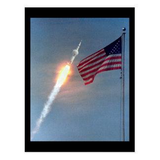 Lancement d'Apollo 11, avec le drapeau, la NASA Carte Postale