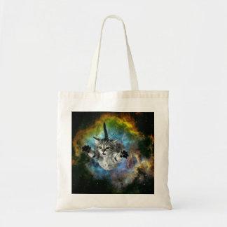 Lancement de chaton d'univers de chat de galaxie tote bag