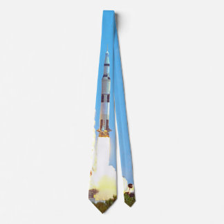 Lancement de la NASA Apollo 16 Fusée Saturn v Cravates