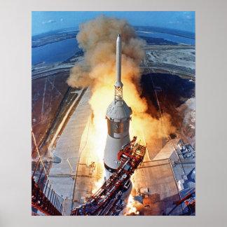 Lancement de Rocket d'alunissage de la NASA Apollo Poster