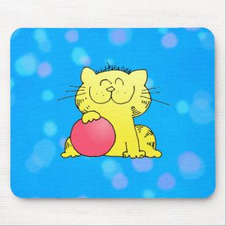 Lanceur mignon de chaton tapis de souris