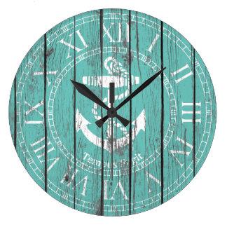 L'ancre blanche personnalisent grande horloge ronde