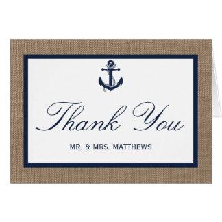 L'ancre de marine sur la collection de mariage de cartes de vœux