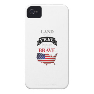 Land of the free because of the brave coques iPhone 4 Case-Mate
