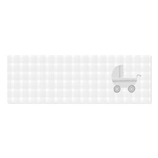 Landau gris-clair et blanc de bébé carte de visite petit format