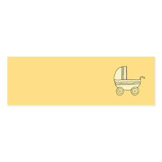 Landau jaune de bébé carte de visite petit format