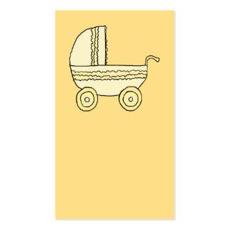 Landau jaune de bébé carte de visite standard