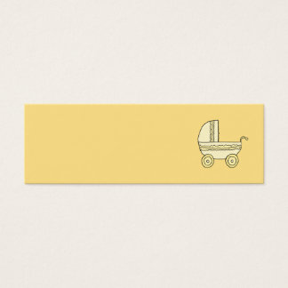 Landau jaune de bébé mini carte de visite