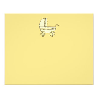 Landau jaune de bébé prospectus 11,4 cm x 14,2 cm
