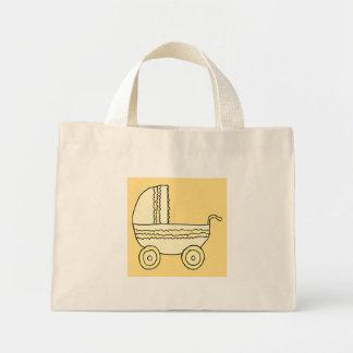 Landau jaune de bébé sacs fourre-tout