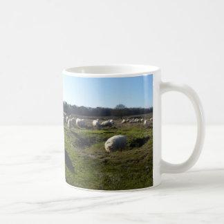 Lande panoramique avec la tasse de moutons
