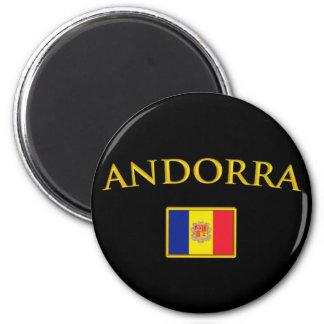 L'Andorre d'or Magnet Rond 8 Cm