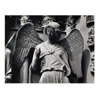 L'ange avec un sourire carte postale