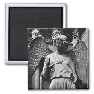 L'ange avec un sourire magnet carré
