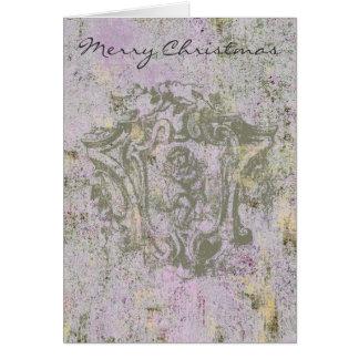 L'ange chantent la carte de ~ de Noël