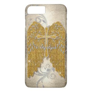 L'ange de regard de bijou de diamant de coque iPhone 7 plus