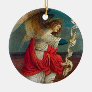 L'ange Gabriel - Gaudenzio Ferrari Ornement Rond En Céramique
