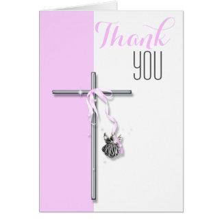L'ange religieux de confirmation vous remercient cartes de vœux