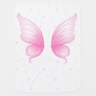 L'ange rose s'envole la couverture de bébé