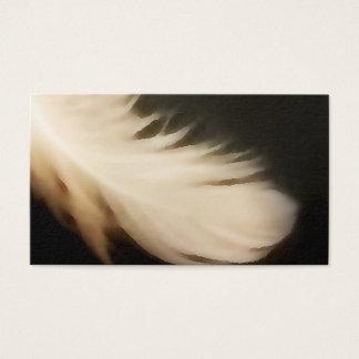 L'ange s'envole des cartes de visite de blanc de