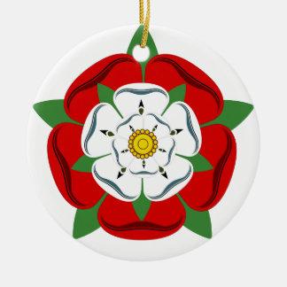 L'anglais Tudor s'est levé Ornement Rond En Céramique