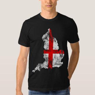 L'Angleterre a affligé le drapeau T-shirts