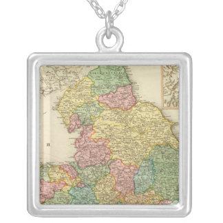 L'Angleterre, Pays de Galles, Ecosse Pendentif Carré