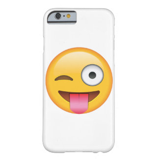 Langue avec cligner de l'oeil l'oeil - Emoji Coque Barely There iPhone 6