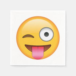 Langue avec cligner de l'oeil l'oeil - Emoji Serviettes Jetables