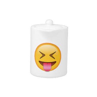 Langue avec les yeux étroitement fermés - Emoji