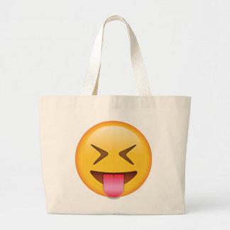 Langue avec les yeux étroitement fermés - Emoji Grand Tote Bag