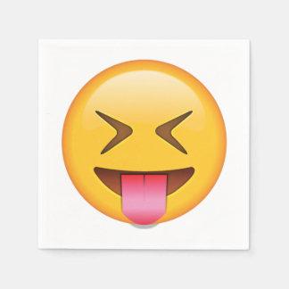 Langue avec les yeux étroitement fermés - Emoji Serviettes En Papier