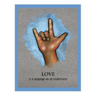 Langue d'amour : Langue des signes américaine : Cartes Postales