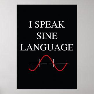 Langue de sinus affiche