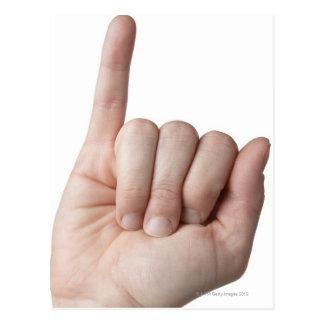 Langue des signes américaine 13 carte postale
